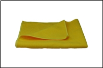 Shoe Care Cloth, yellow, 80% cotton, 33cm X 33cm