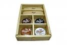 Burgol Schuhpflegebox mit Schuhputz-Luxus-Ausstattung mit Holzdeckel